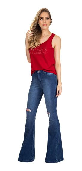 Calça Jeans High Flare Guess 40341