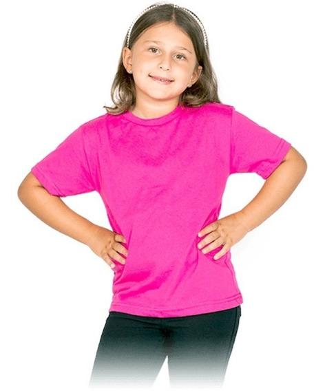 Kit 13 Camisetas Infantil Lisa Básica Algodão Blusa Unissex
