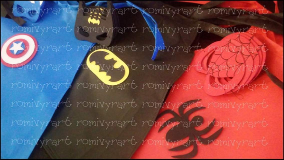 Los Vengadores Capas Infantiles + Mascara