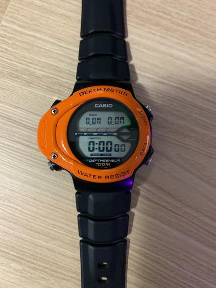 Relógio Casio Snk-100 - Depth Meter - Profundímetro - Novo!