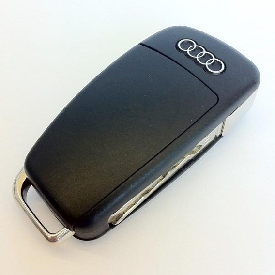 Chave Canivete Audi A3 A6 A8 Q7 A4 Q3 A1 Tt Com Emblema Audi