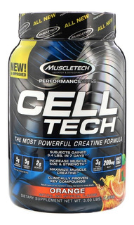 Cell Tech 3 Lb 1,36 Kg Muscletech Creatina Post Entreno Performance Series