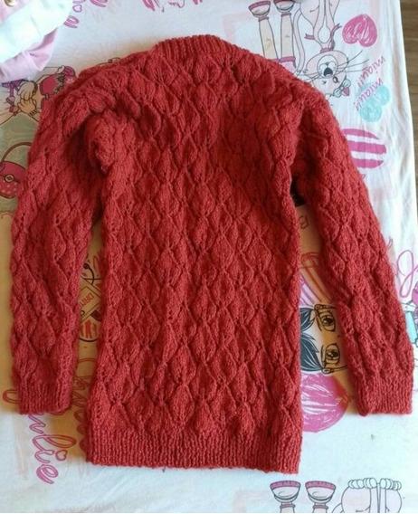 Blusa De Lã Menina Feita A Mão