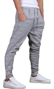 Calça De Moleton Masculina E Feminino Saruel Skinny Sport
