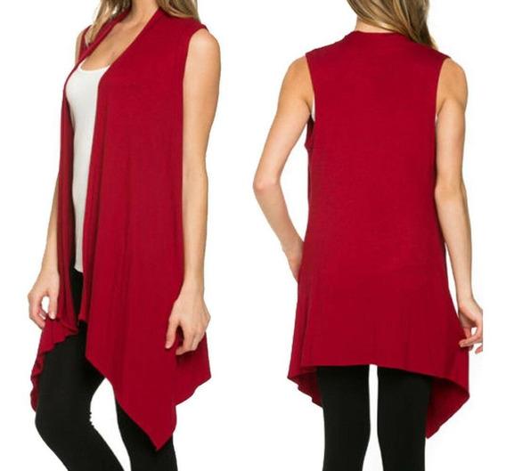 M - Red - Abrigos De Mujer Cardigan Casual Suelta Irreg-1531