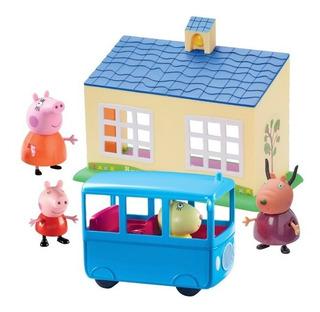 Peppa Pig Set Escuela + Autobus C/3 Fig Int 06593 La Cerdita
