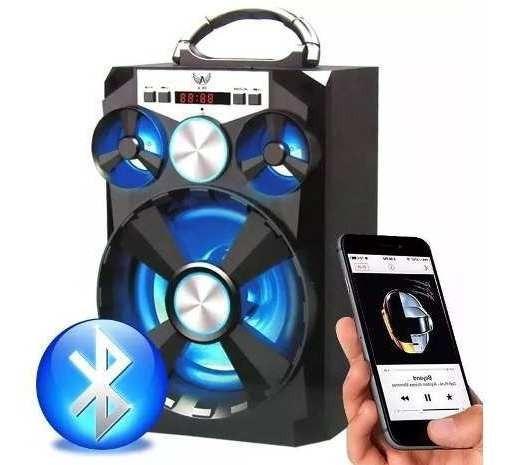 Caixa De Som Bluetooth Amplificada Usb Mp3 Radio Fm Sd Card