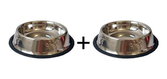 Comedouro Inox Para Cães 710ml Kit 2 Unidades Pet