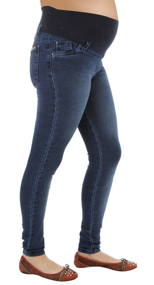 Pantalon Jean Maternal Elastizado Chupin Art. 1945