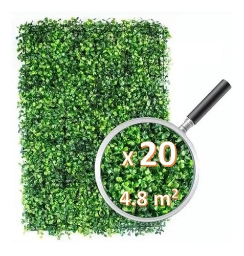 Imagen 1 de 5 de 20pzs Follaje Artificial Sintetico Para Muro Verde 60x40cm!!