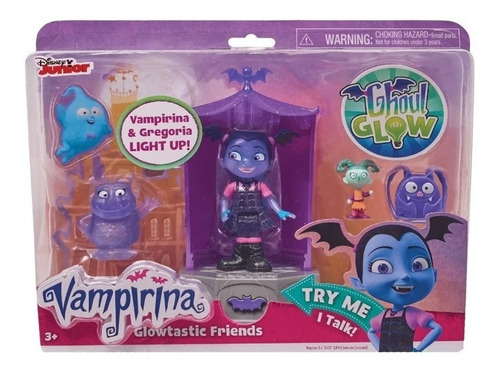 Vampirina  Disney Figura Muñeca Set Glowtastic Friends