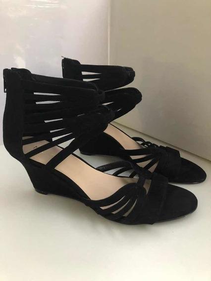 Zapatos Sandalias Gamuza Negra Nine West 37,5 Nuevos