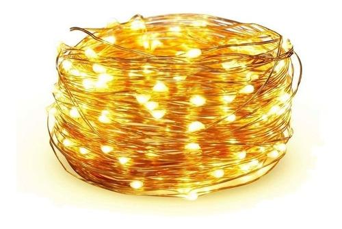 Guirnalda Led Luz A Pila Alambre Deco 50 Luces 5 Mts Diseño