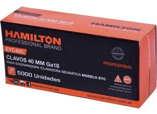 Clavos Hamilton Para Engrampadora Neumatica Eyc 40mm X 5000u