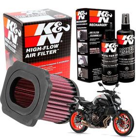 Filtro Ar K&n K N + Kit De Limpeza Yamaha Mt-07 Mt07