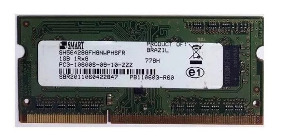 Memória Smart 1gb Ddr3 1333mhz P/ Notebook