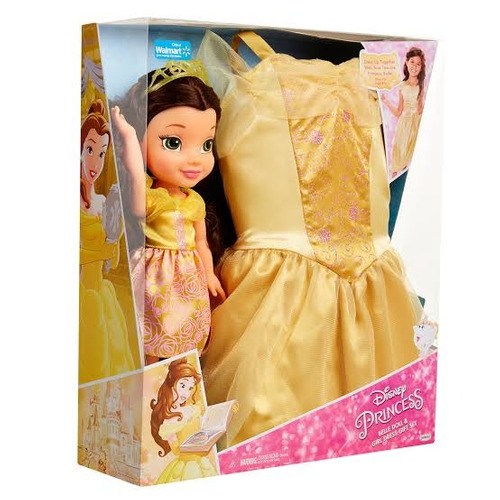 Muñeca Disney Princess Belle Doll Girl Dress Gift Set