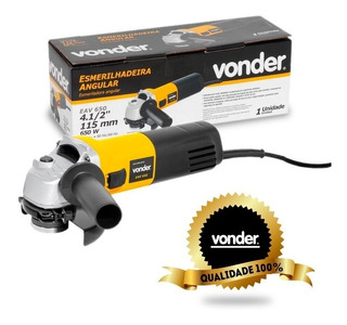 Esmerilhadeira Angular Lixadeira Vonder Eav650 4 1/2 Pol