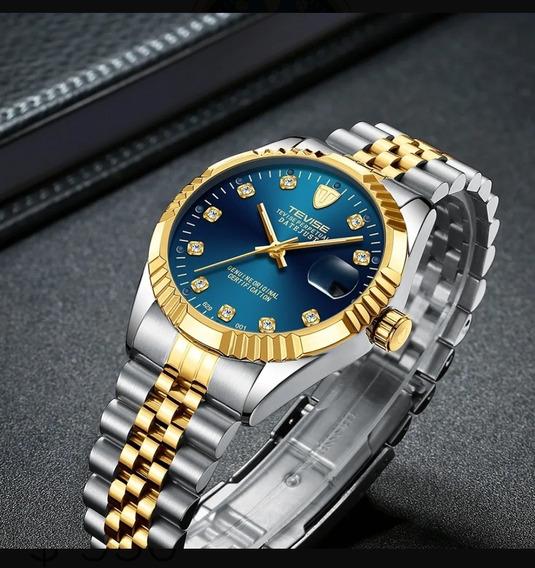 Reloj Nuevo Automatico Tevise Dayjust Entrega Inmediata T629
