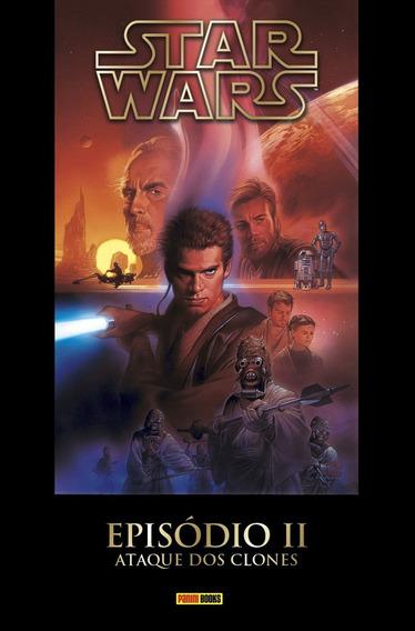 Livro Star Wars Episódio 2 Ataque Dos Clones - Capa Dura