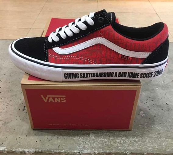 Tênis Vans X Baker Vermelho/preto Original