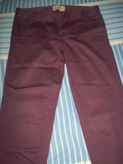 Pantalon De Dama Bershka Morado Talla 0 Uk 4 Usado