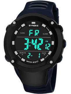 Reloj Digital Deportivo Synoke Blue