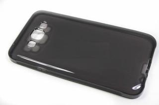 Capa Em Gel Samsung Galaxy E7 - Fumê + Película De Vidro