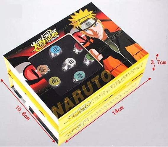 Aneis Akatsuki Naruto Kit 10 Aneis Ajustáveis Pronta Entrega