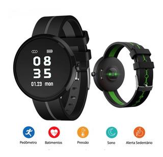 Relógio Inteligente Smartband H09 Monitor Cardíaco - Preto