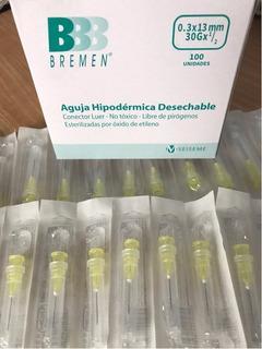 Agujas 30g 1/2 X 100u Mesoterapia Estetica *también Insulina