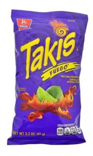 Takis Fuego 91g/hot Chili Pepper - Unidad a $25000