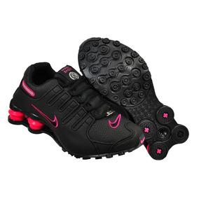 Tênis Nike Shox Nz Original Couro Lançamento Rosa Mulher