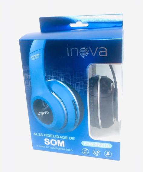 2 Fone Estereo Inova Wireless Bluetooth Sem Fio
