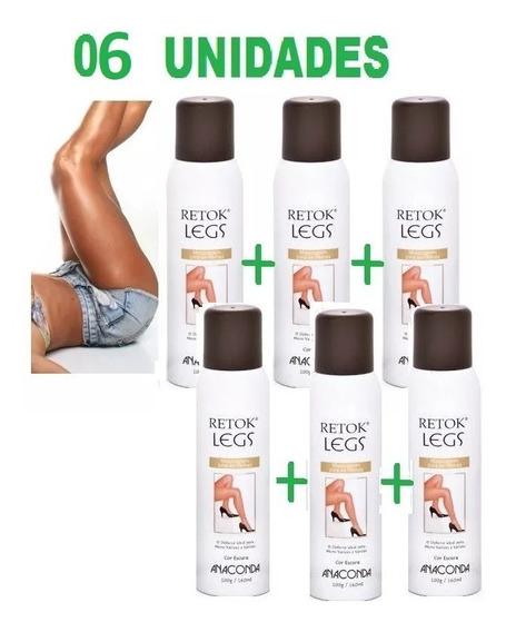 Kit 6 Retok Legs Meia Calça Spray Maquiagem Pernas