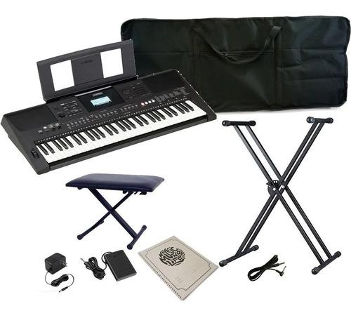 Yamaha Psr-e463 Keyboard Kit + Lectern Chair Pedal Notebook