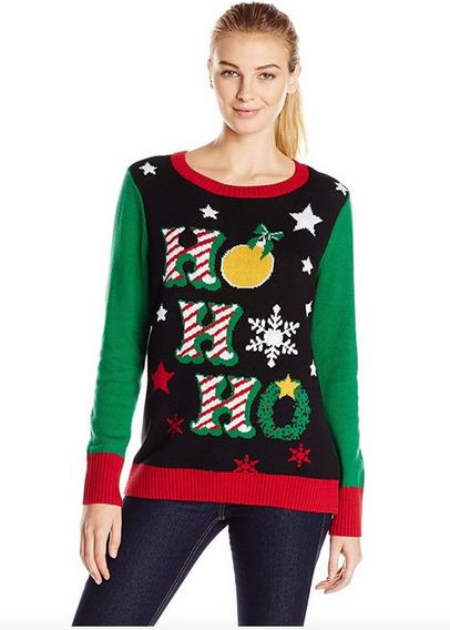 Sweater Navidad Mujer Ugly Sweater Mujer Ho Luz Led