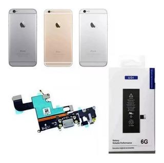 Carcaça + Bateria + Dock Conector Carga iPhone 6 4.7