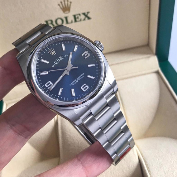 Rolex Oyster Perpetual 36mm Blue 2019 Novíssimo