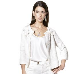 Casaco Feminino Bordado Branco Scalon Antonia 380012