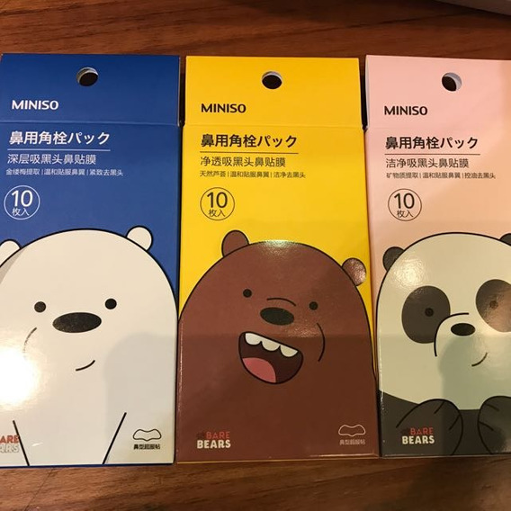 Tiras Nasales We Bare Bears Osos Escandalosos Pack De 10 Pza