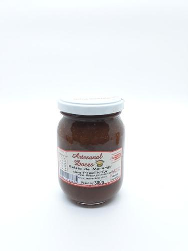 Imagem 1 de 10 de Geléia De Morango Com Pimenta 300g