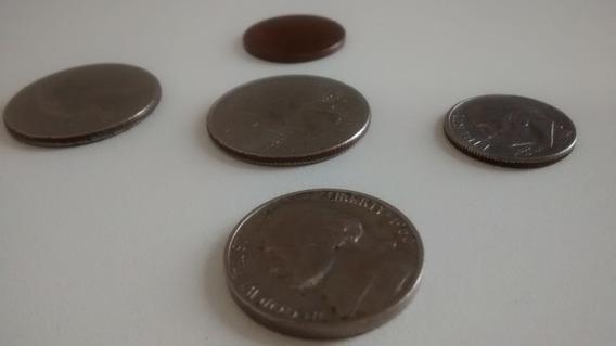 Moedas Estados Unidos Dollar Numismática Cent Dólar Kit 5 Pç