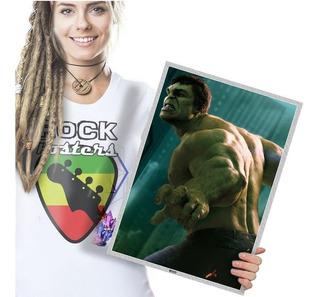 Quadro Painel Festa Infantil Heróis Da Marvel Hulk T. A3 07
