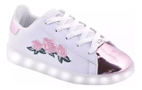 Zapatillas 47 Street Footy Luz Led Usb Flores Fty Calzados