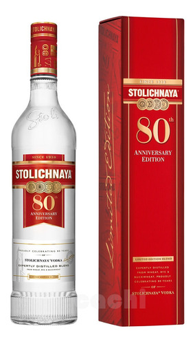 Imagen 1 de 3 de Vodka Stolichnaya 1litro