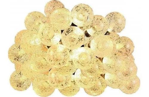 Imagen 1 de 5 de Guirnalda 16 Bolitas Cristal Calido 3.5mt (pilas )