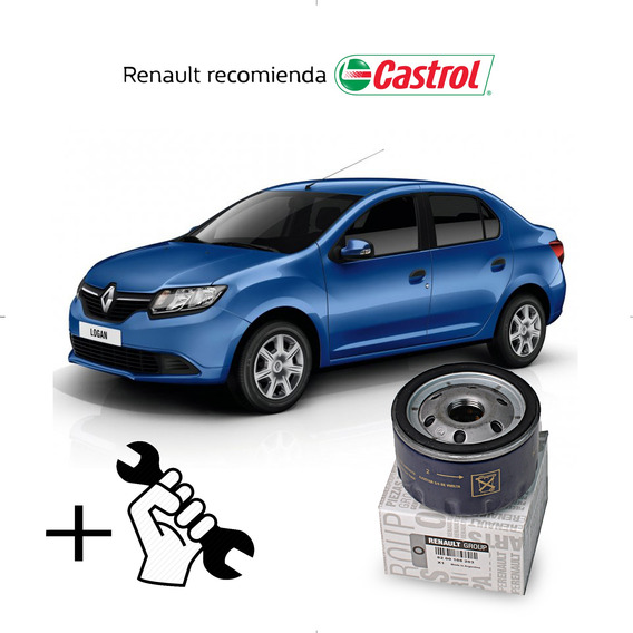 Cambio Filtro + Aceite Castrol 10w40 Renault Logan 1.6 8v