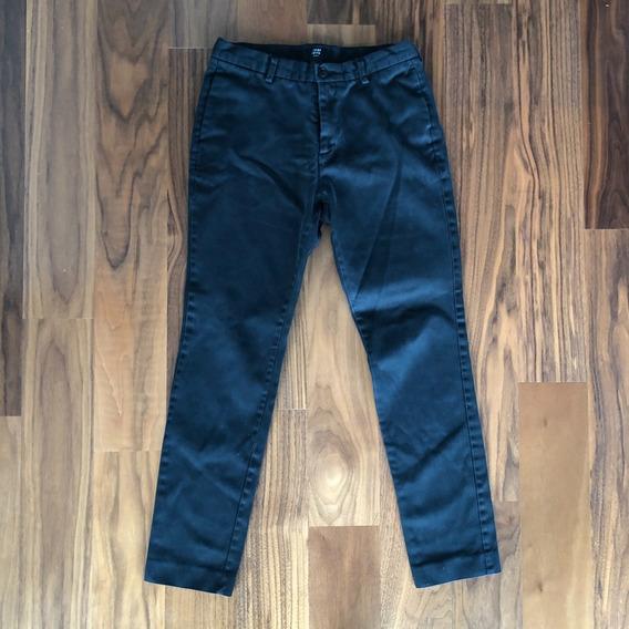 Pantalon De Vestir H&m, Negro, Básico