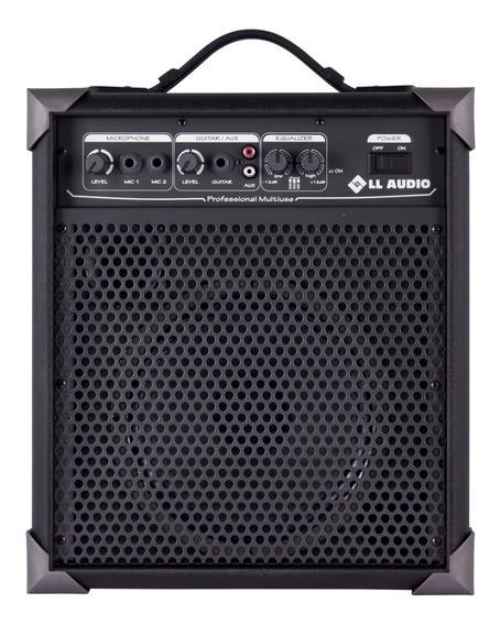 Caixa De Som Amplificada Multi Uso *microfone Guitarra Lx60
